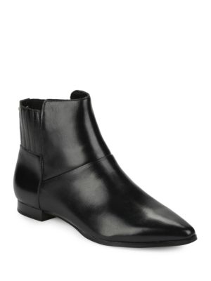Buy Eunice Leather Ankle Boots by Calvin Klein online