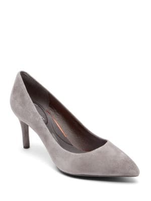 Total Motion Suede Point Toe Pumps by Rockport