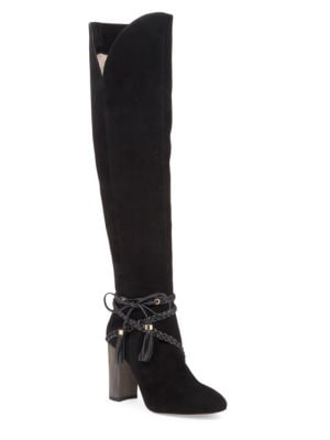 Tallen Braid-Wrapped Leather and Suede Boots by Louise et Cie