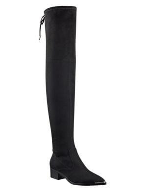 Buy Yenna Over-the-Knee Microsuede Stretch Boots by Marc Fisher LTD online