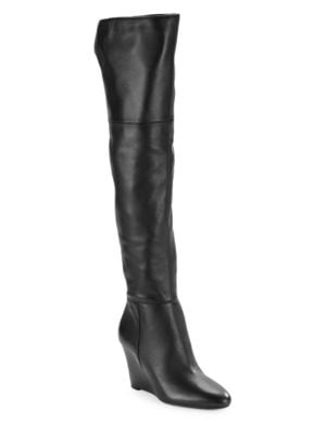 Kennedy Knee-High Wedge Boots by Via Spiga