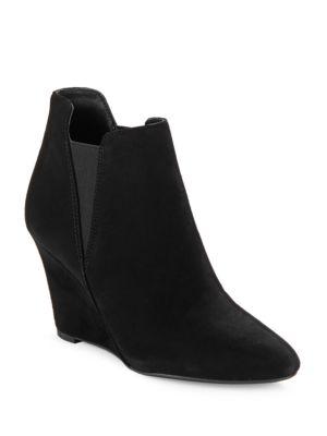 Buy Kenzie Suede Point Toe Wedge Bootie by Via Spiga online