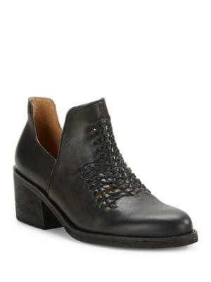 Kick Woven Leather Ankle Boots by Latigo