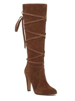 Millay-Wrapped Leather Boots by Vince Camuto