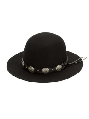 Banded Wool Floppy Hat...