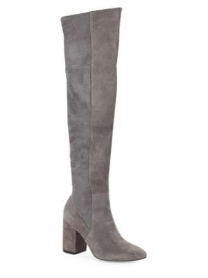 Darla Over-The-Knee Suede Block Heel Boots by Cole Haan