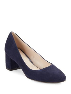 Justine Suede Block Heel Pumps by Cole Haan