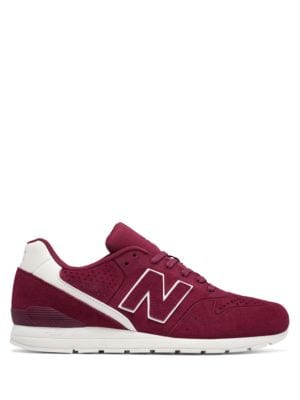696 Perforated Suede-Blend Sneakers by New Balance