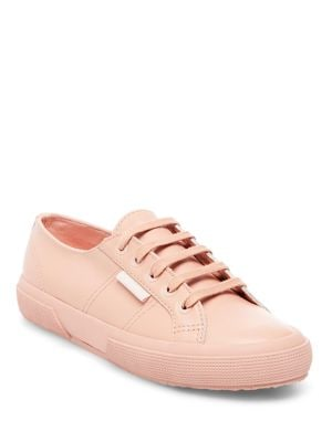 Lace-Up Leather Sneakers by Superga