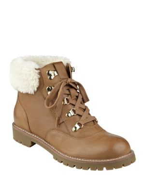 Tucker Faux Fur and Leather Booties by Tommy Hilfiger