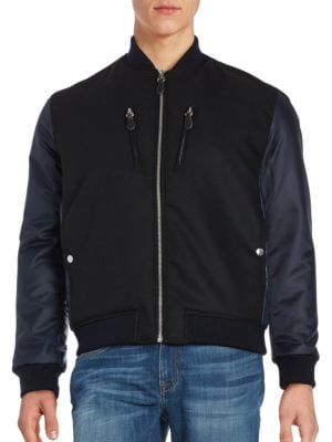 Back-Quilted Bomber Jacket by Markus Lupfer