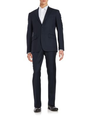 Two-Piece Textured Suit...