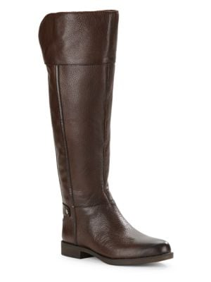 Christine – Wide Calf Leather Boots by Franco Sarto