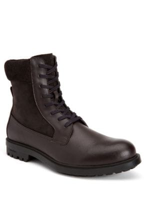 Gable Leather Mid-Calf Boots by Calvin Klein