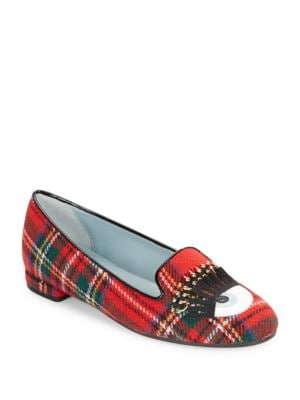 Scottish Pierced Winking Plaid Flats by Chiara Ferragni