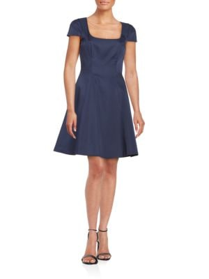 Cap Sleeve Fit and Flare Dress by Badgley Mischka Platinum