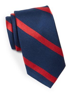 Silk Diagonal Striped Tie