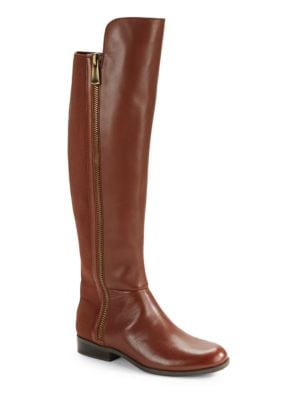 Camme – Wide Calf Leather Boots by Bandolino