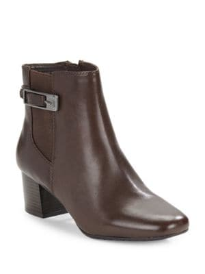 Lethia Leather Ankle Boots by Bandolino