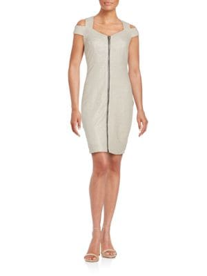 Photo of Cold Shoulder Sheath Dress by JAX - shop JAX dresses sales