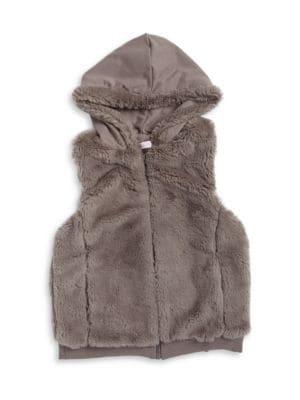 Hooded Faux Fur Vest...