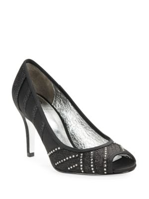 Flair Embellished Open Toe Stilettos by Adrianna Papell
