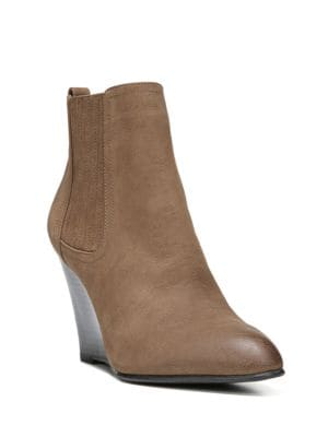 Gillian Leather Wedge Ankle Boots by Sam Edelman