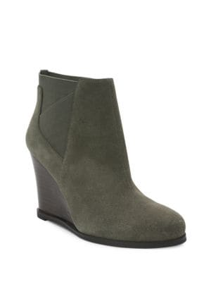 Cora Suede Wedge Ankle Boots by Tahari