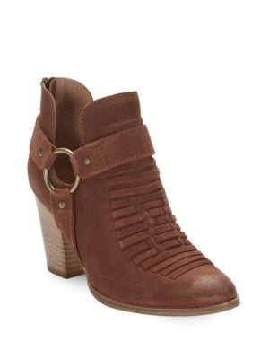 Impossible Suede Cutout Ankle Boots by Seychelles