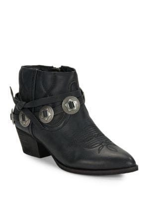 Skye Leather Ankle Boots by Dolce Vita