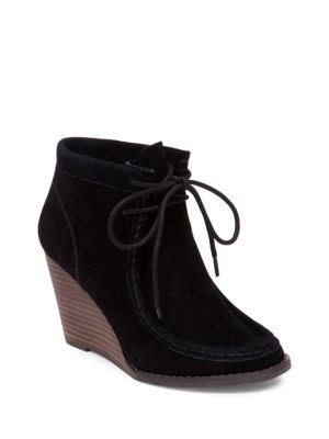 Buy Ysabel Suede Wedge Ankle Boots by Lucky Brand online