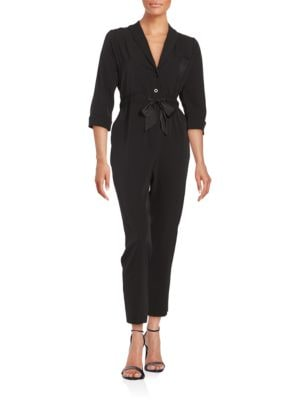 Jodi Three-Quarter-Sleeve Shawl-Collar Jumpsuit by Erin Fetherston