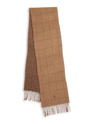 Reversible Wool Blend Fringe Scarf by Polo Ralph Lauren