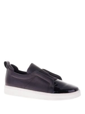 Mickey Patent Leather Platform Sneakers by Sol Sana
