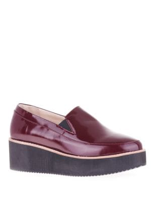 Tabbie Patent Leather Slip-on Platform Shoes by Sol Sana