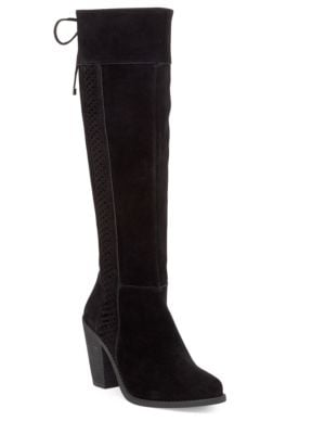 Ciarah Suede Braid Knee-High Boots by Jessica Simpson