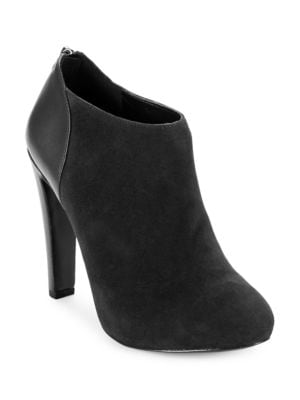 Brienne Suede High-Heel Booties by Nine West