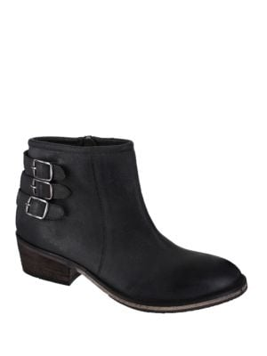 Neal Leather Buckled Ankle Boots by Mia