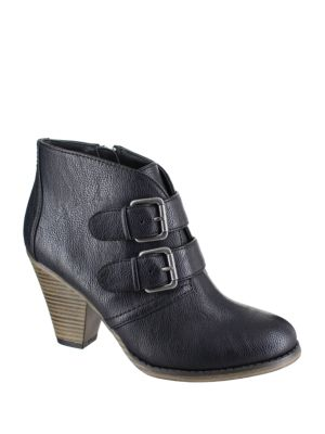 Farris Double Buckle Ankle Boots by Mia