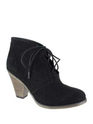 Fianna Suede Lace-Up Ankle Boots by Mia