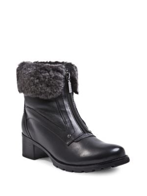 Formosa Sheepskin Collar Ankle Boots by Blondo
