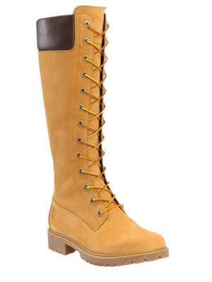 Side Zip Leather Knee-High Boots by Timberland