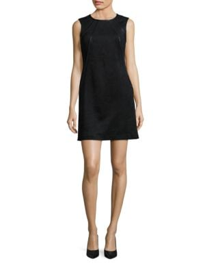 Faux Suede Sheath Dress by Calvin Klein