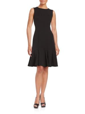 Seamed Fit and Flare Dress by Calvin Klein