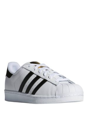 Superstar Striped Leather Sneakers by Adidas