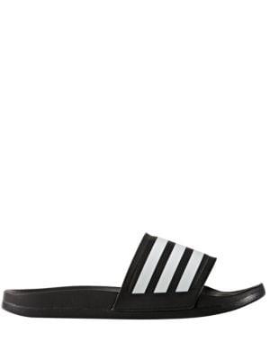 Women's Adilette Three-Striped Slides by Adidas
