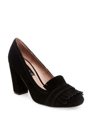 Jade Kilted Suede Pumps by Steven by Steve Madden