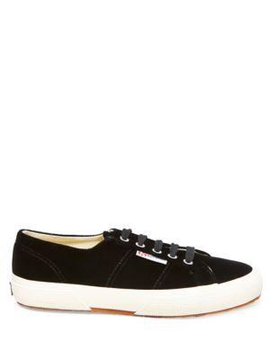 Velvet Low Top Sneakers by Superga