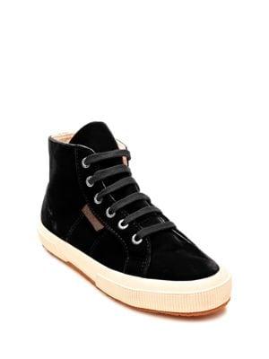 Buy Velvet High Top Sneakers by Superga online