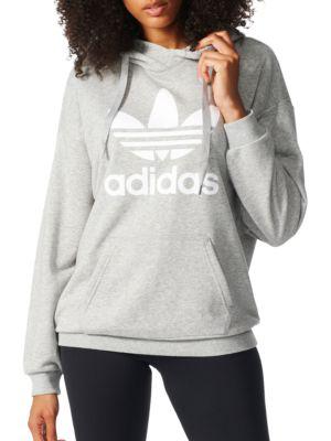 Trefoil Heathered Hoodie by Adidas